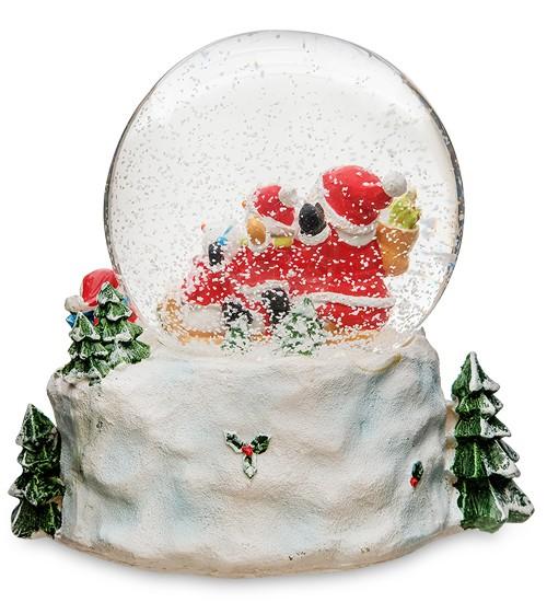 Музыкальный шар со снегом «Дед Мороз и Снеговики»