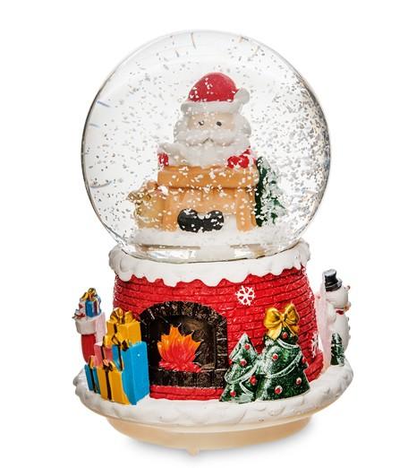 Новогодний шар со снегом «Санта»