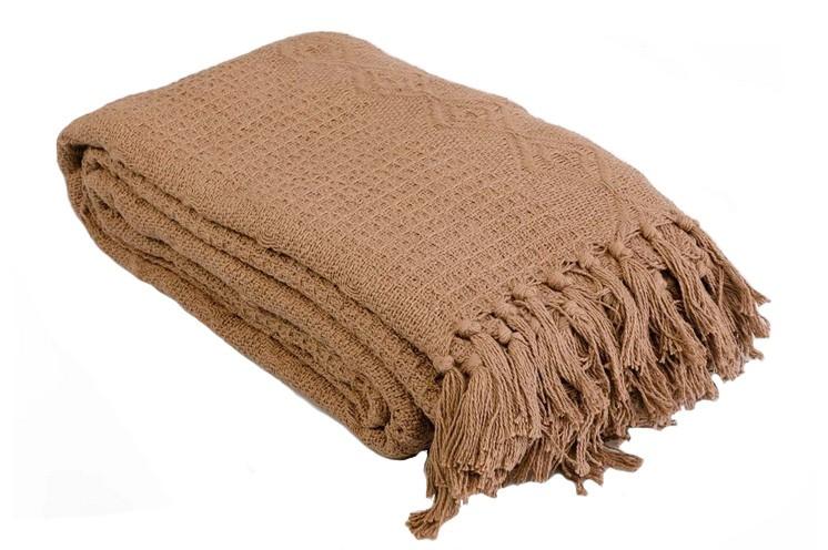 Плед-покрывало «Лотос» (коричневое)