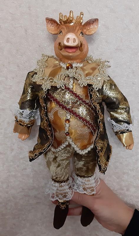 Кукла коллекционная «Кабан-король»