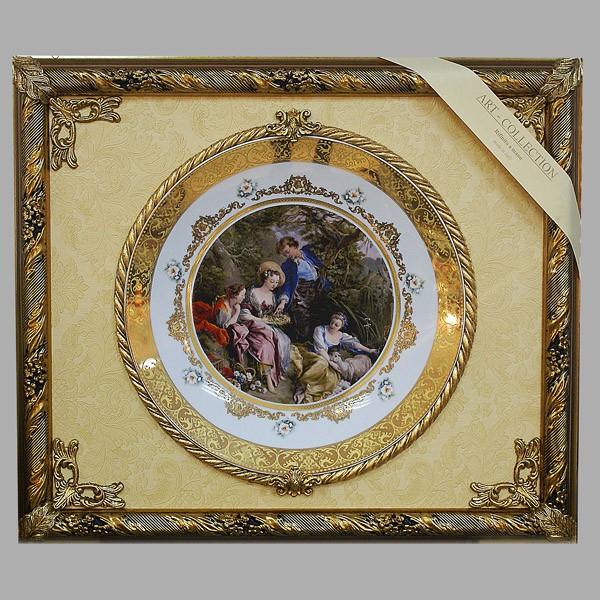 Настенное панно с тарелкой «Гнездо с птенцами»