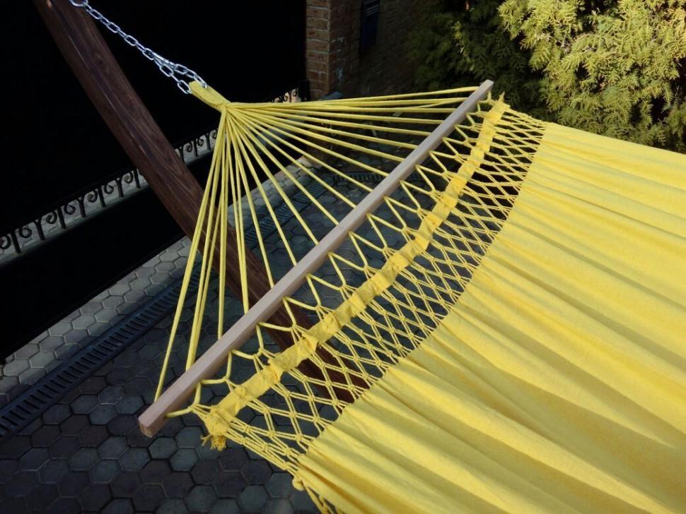Гамак двухместный TULIP желтый