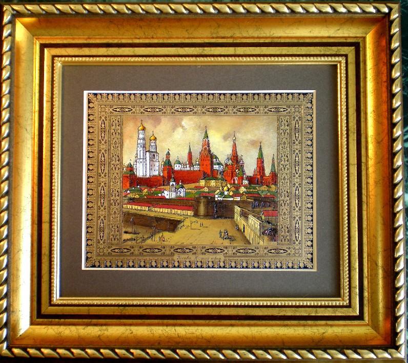 Гравюра «Китай-город Москва»