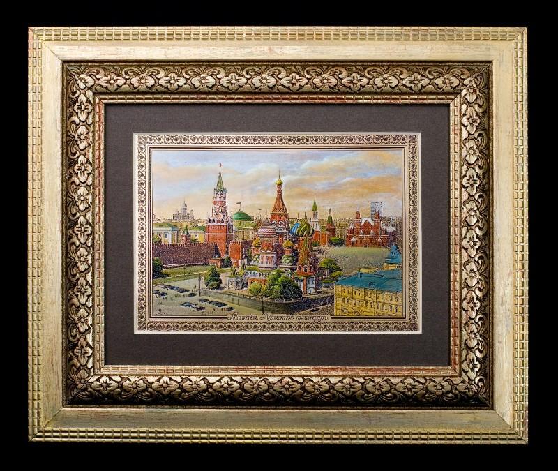 Гравюра «Красная площадь Москва»