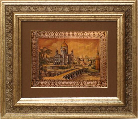Гравюра «Храм Христа Спасителя Москва»