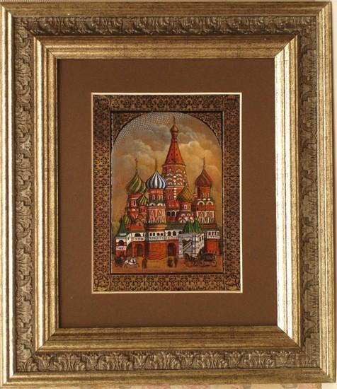 Гравюра «Храм Василия Блаженного Москва»
