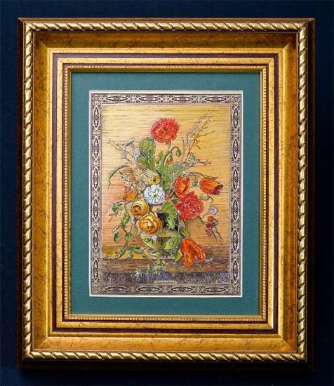 Гравюра «Букет цветов»