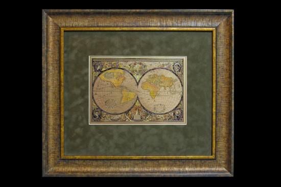 Гравюра «Карта мира»