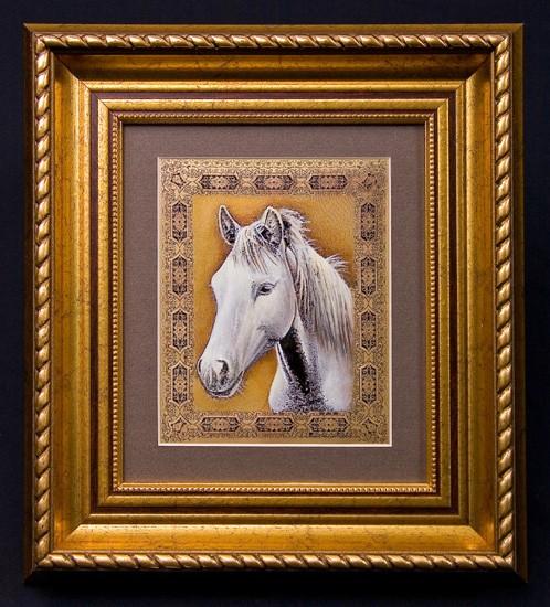 Гравюра «Лошадь белая»