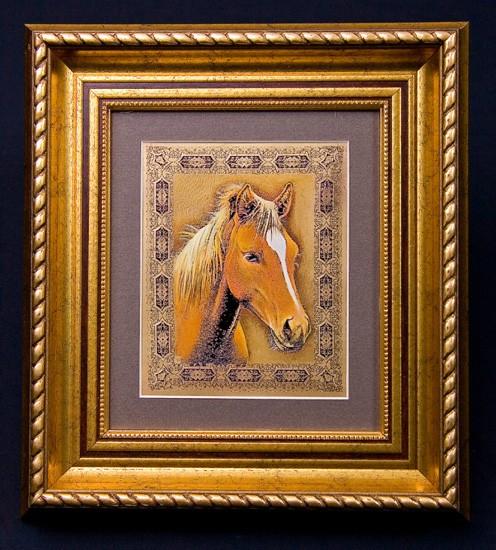Гравюра «Лошадь темная»