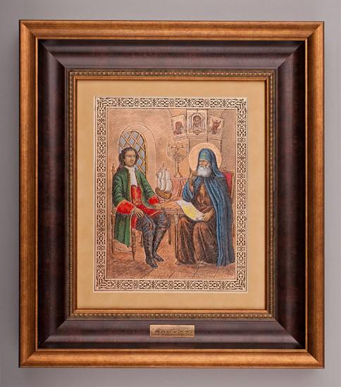 Гравюра «Петр Первый и Епископ»
