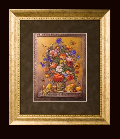 Гравюра «Цветы и фрукты»