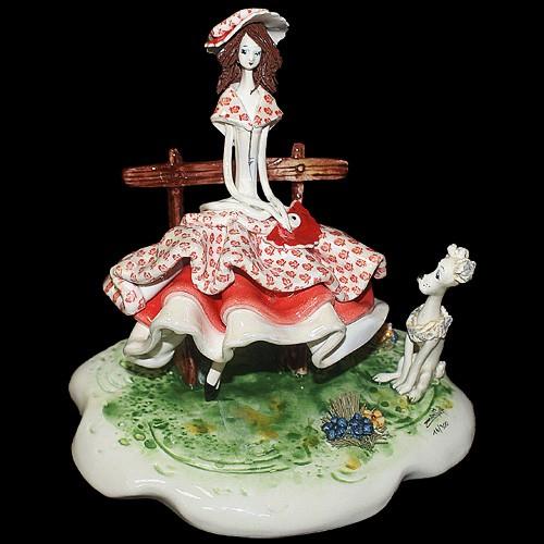 Статуэтка «Дама с собачкой», Zampiva