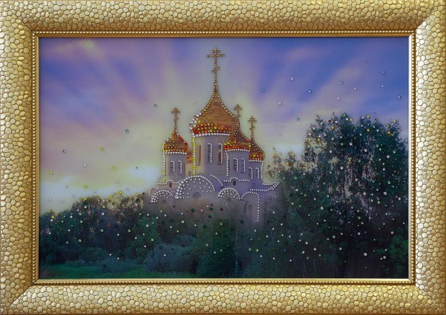 Картина Swarovski «Православный храм. В лучах солнца»