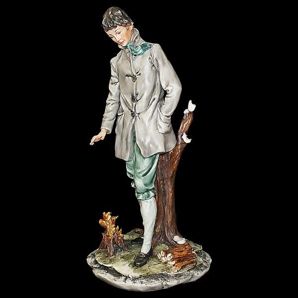 Фарфоровая статуэтка «Дама. Зима»