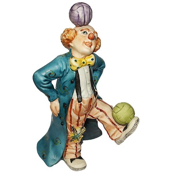 Фарфоровая статуэтка «Клоун-жонглёр»