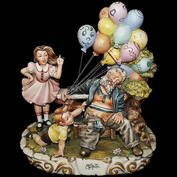 Фарфоровая статуэтка «Продавец воздушных шаров»