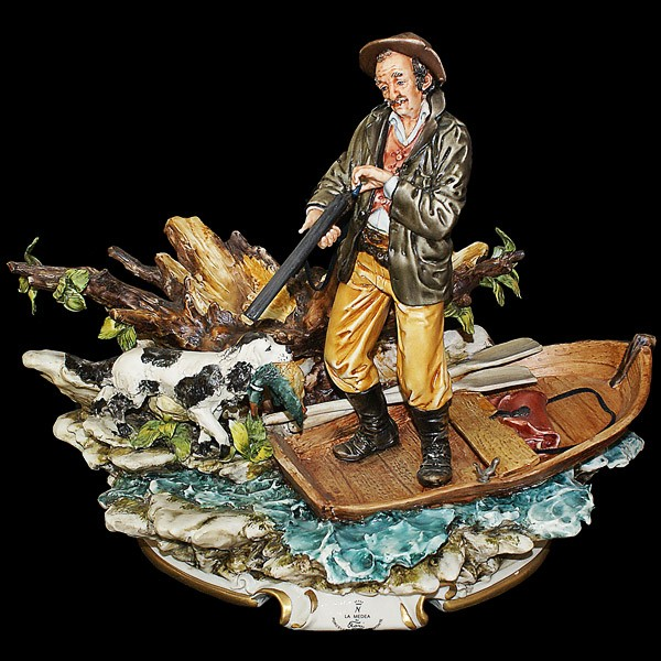 Фарфоровая статуэтка «Охота на уток»