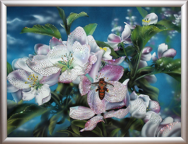 Картина Swarovski «Яблони в цвету»