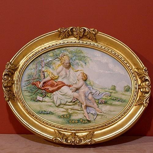 Фарфоровая картина «Сельский пейзаж» Porcellane Principe
