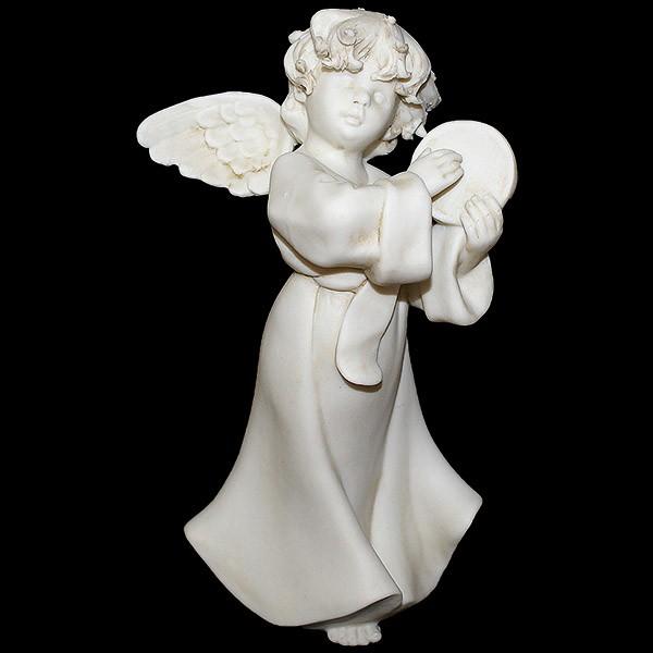 Фарфоровая статуэтка «Ангел с бубном»