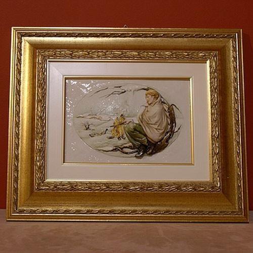 Фарфоровая картина «Зима» Porcellane Principe
