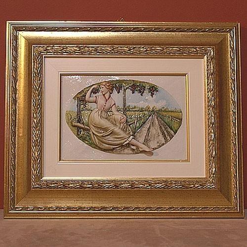 Фарфоровая картина «Осень» Porcellane Principe