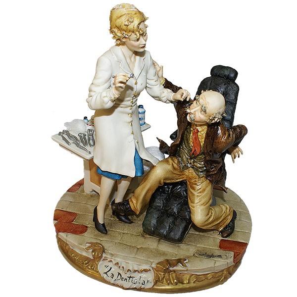 Фарфоровая статуэтка «Женщина - дантист»