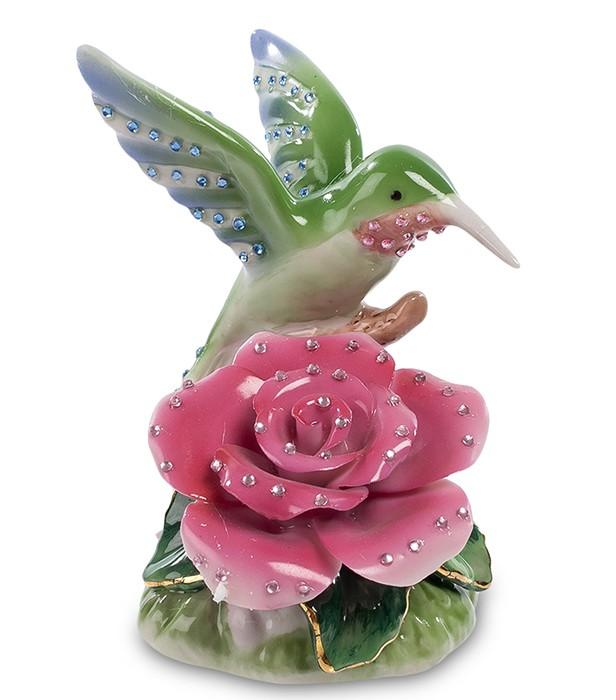 Фарфоровая статуэтка «Птичка на цветке»