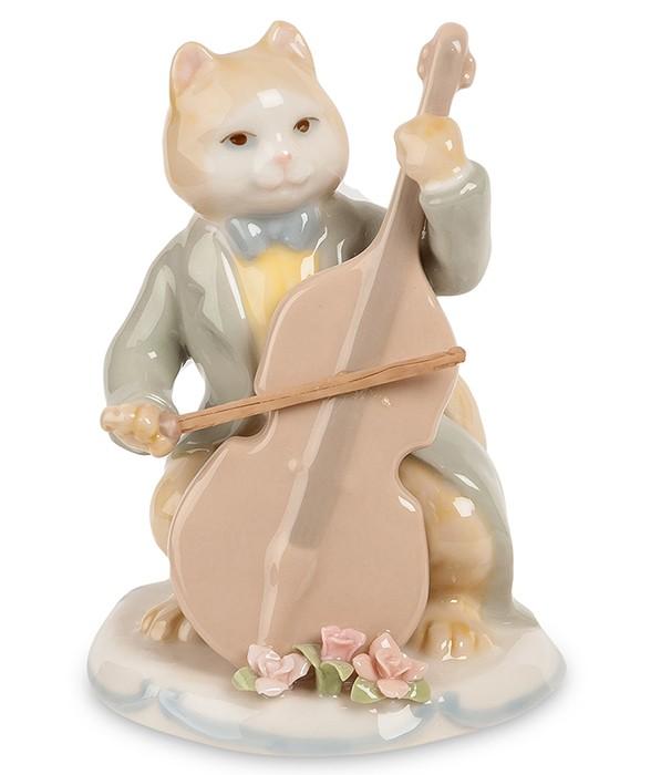Фарфоровая статуэтка «Кот с виолончелью»