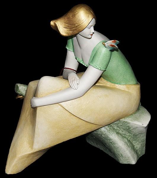 Фарфоровая статуэтка «Девушка» Porcellane Principe