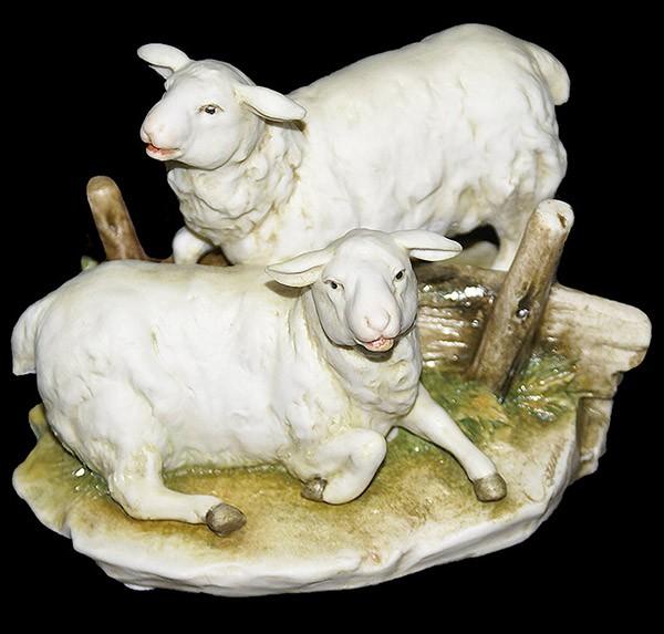 Фарфоровая статуэтка «Овцы» Porcellane Principe