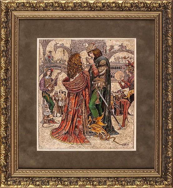 Гравюра «Принц и королевна» (В. Ерко)