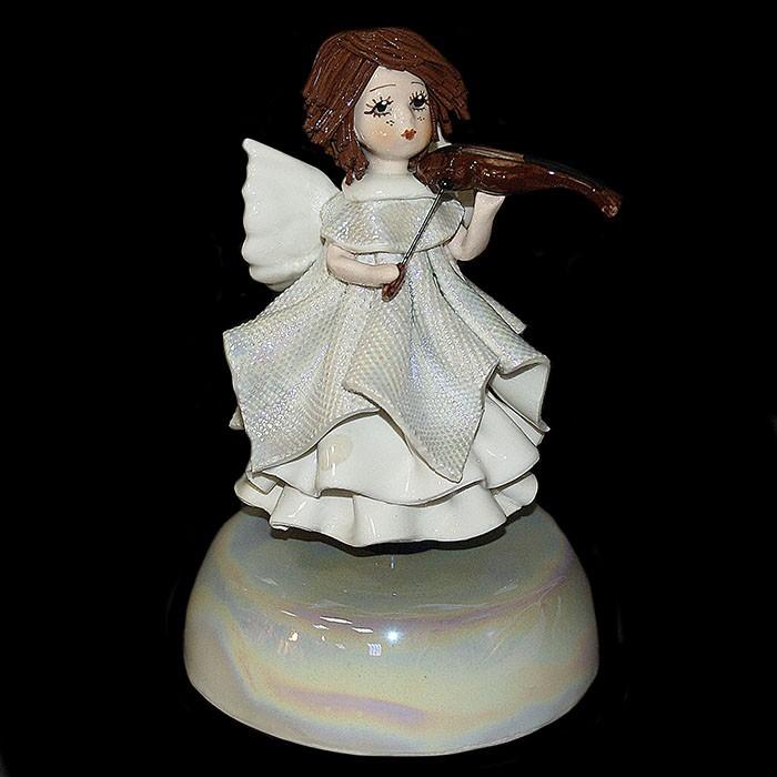 Статуэтка музыкальная «Ангел со скрипкой»