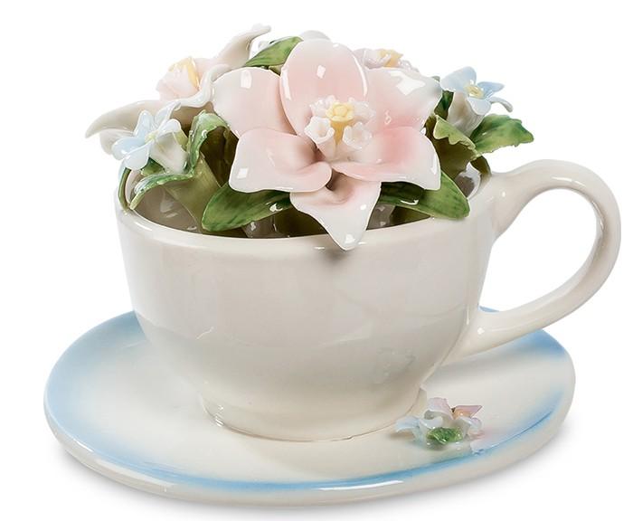 Фарфоровая тележка «Весенние цветы»