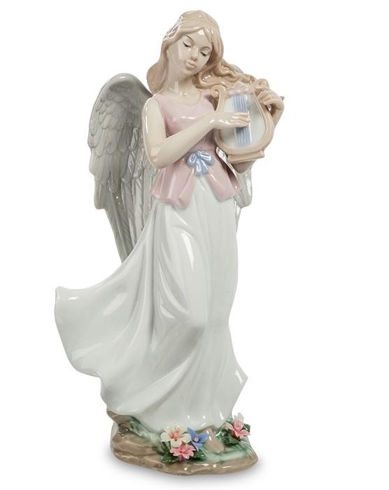Фарфоровая статуэтка «Ангел с лирой»