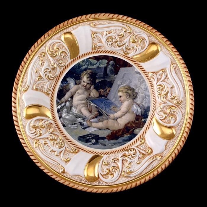 Панно (тарелка на стену) «Ангелы»