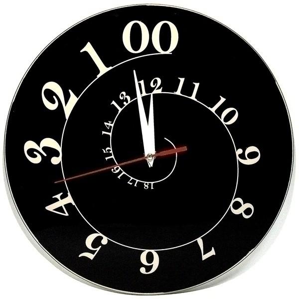 Прикольные настенные часы «Спираль»