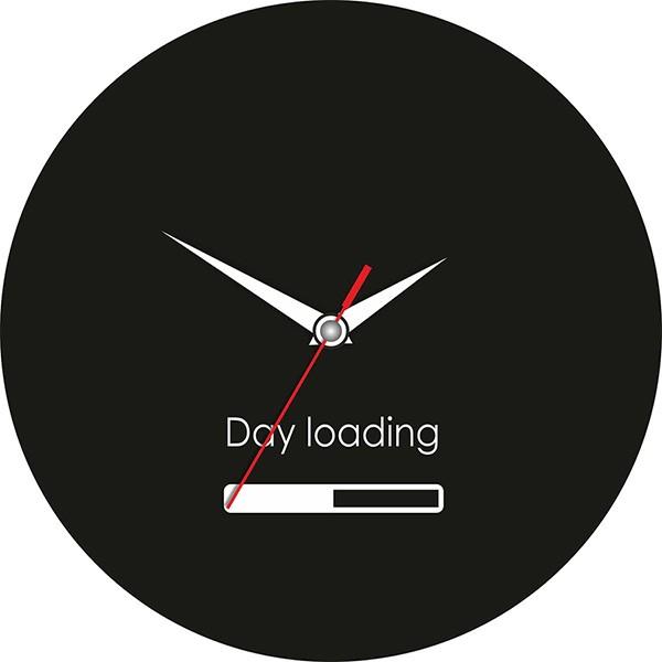 Прикольные настенные часы «Day loading»